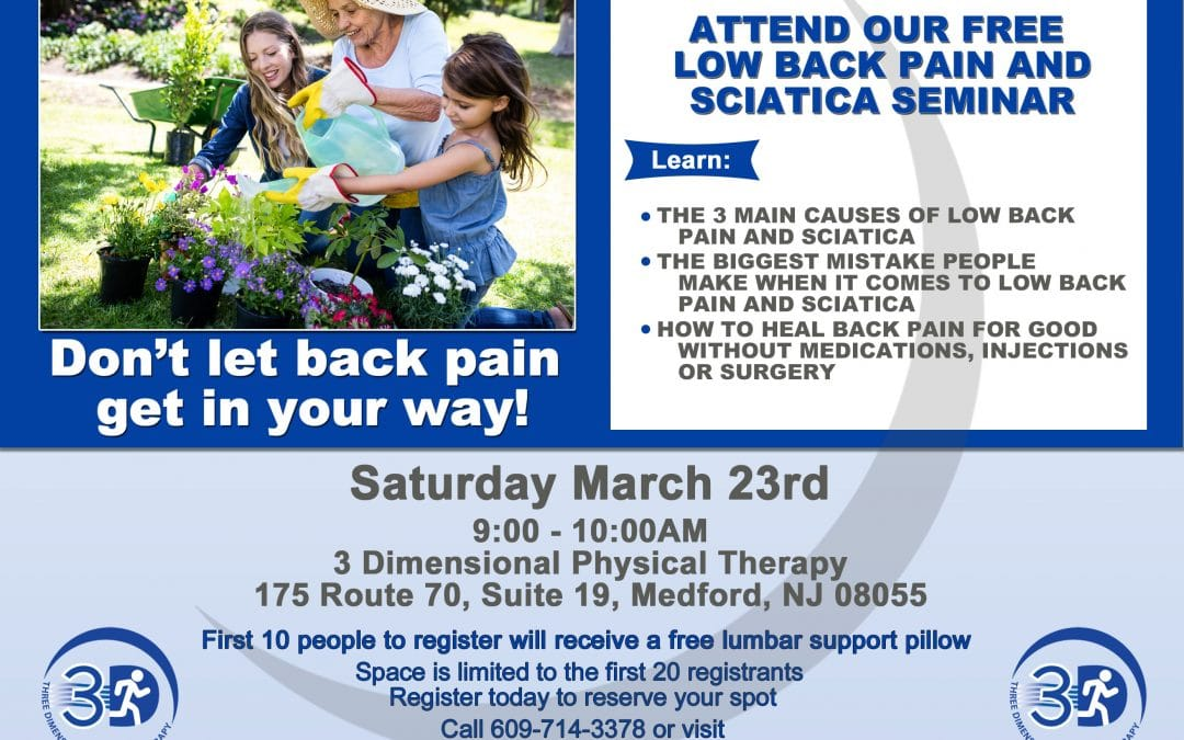 Low Back Pain and Sciatica Seminar