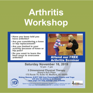 Arthritis Workshop Event Box