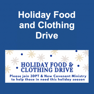 3DPT Holiday Food and Clothing Drive