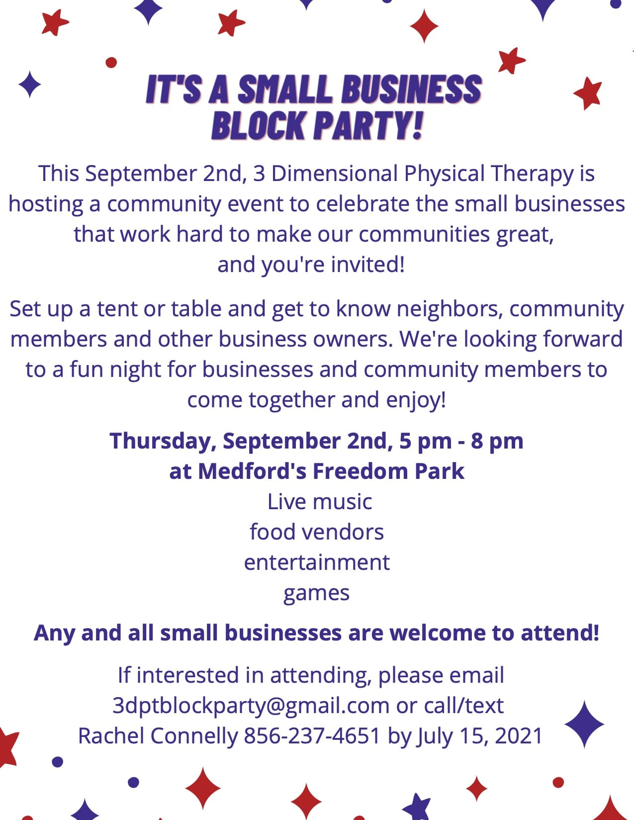 small business community event 9.2.21